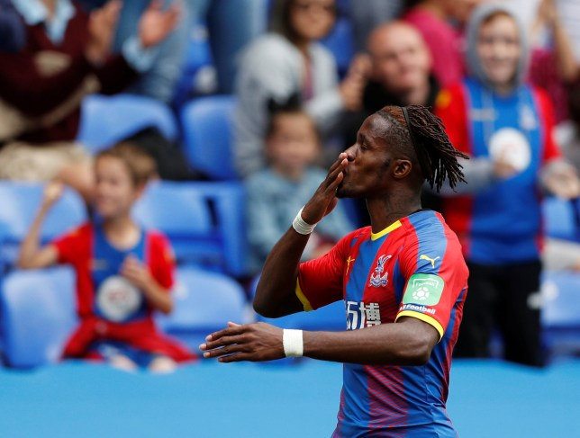Soccer Football - Pre Season Friendly - Reading v Crystal Palace - Madejski Stadium, Reading, Britain - July 28, 2018 Crystal Palace's Wilfried Zaha celebrates scoring their third goal Action Images via Reuters/John Sibley