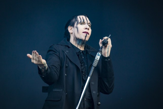 MONTREAL, QC - JULY 28: Marilyn Manson performs at the Heavy Montreal festival at Parc Jean-Drapeau on July 28, 2018 in Montreal, Canada. (Photo by Mark Horton/Getty Images)