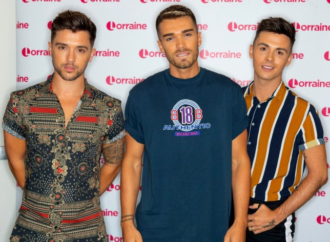 EDITORIAL USE ONLY. NO MERCHANDISING Mandatory Credit: Photo by Ken McKay/ITV/REX/Shutterstock (9775686v) Union J - Josh Cuthbert, JJ Hamblett Jaymi Hensley 'Lorraine' TV show, London, UK - 01 Aug 2018