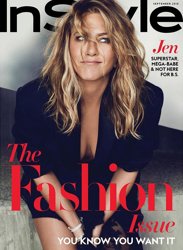 Jennifer Aniston is not heartbroken. InStyle cover September 2018 Grab from: https://www.instagram.com/p/Bl73wIIhyj3/?taken-by=instylemagazine