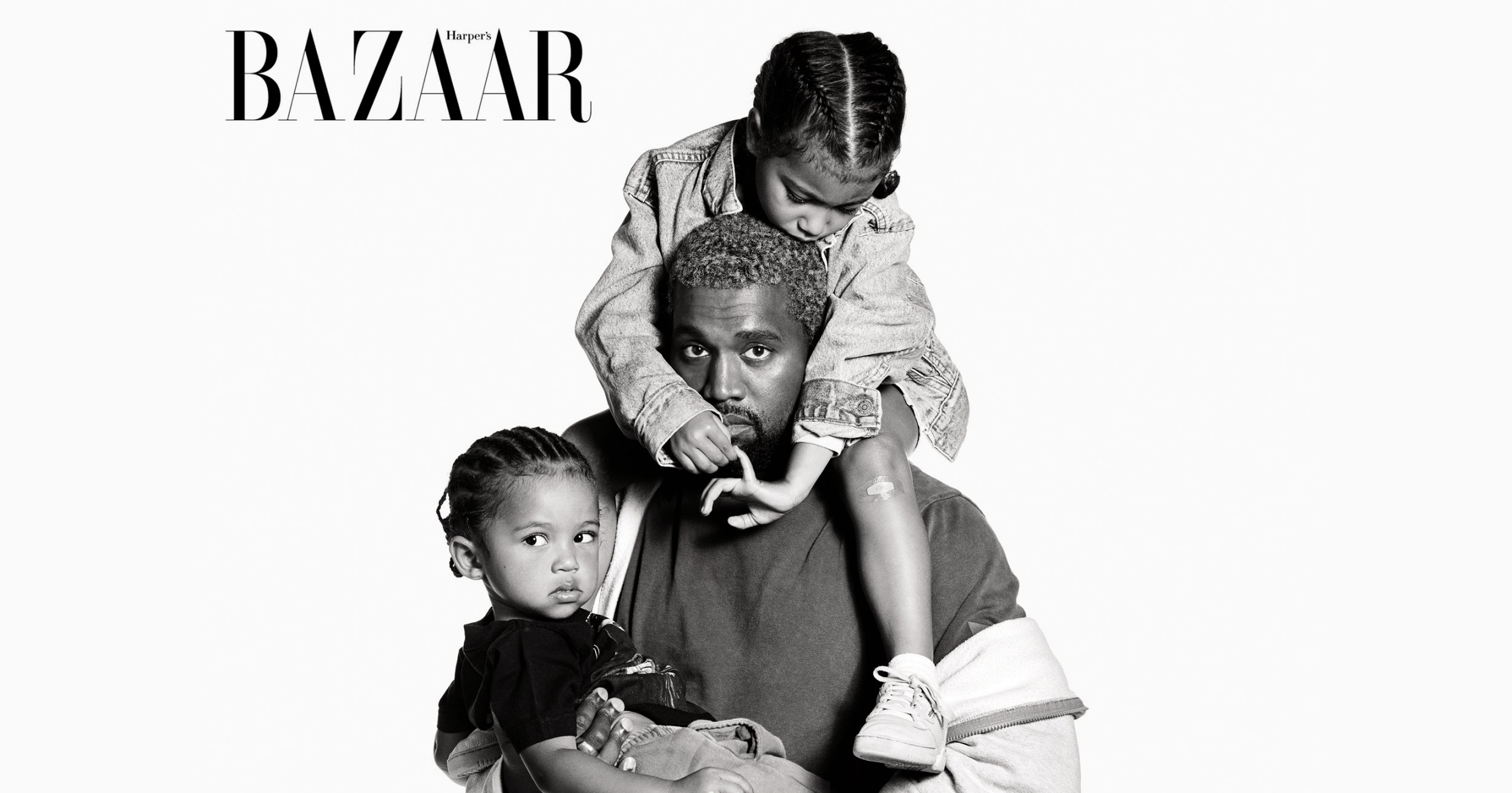 Kanye West's son Saint, 2, does adorable first magazine cover with dad and North