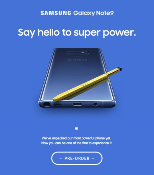 Samsung Galaxy Note 9 could cost ?1000