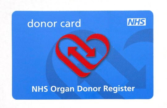 Embargoed to 0001 Sunday August 5 File photo dated 10/07/14 of an NHS Organ Donor Register card. Up to 700 more lives could be saved each year by a new organ donation system which will aim to tackle donor shortages. PRESS ASSOCIATION Photo. Issue date: Sunday August 5, 2018. The new plan shifts the balance of presumption in favour of organ donation, with an opt out for those who do not wish to take part, the Department of Health and Social Care said. The changes will be known as Max?s Law after Max Johnson, a 10-year-old boy who was saved by a heart transplant. See PA story HEALTH Donors. Photo credit should read: Philip Toscano/PA Wire