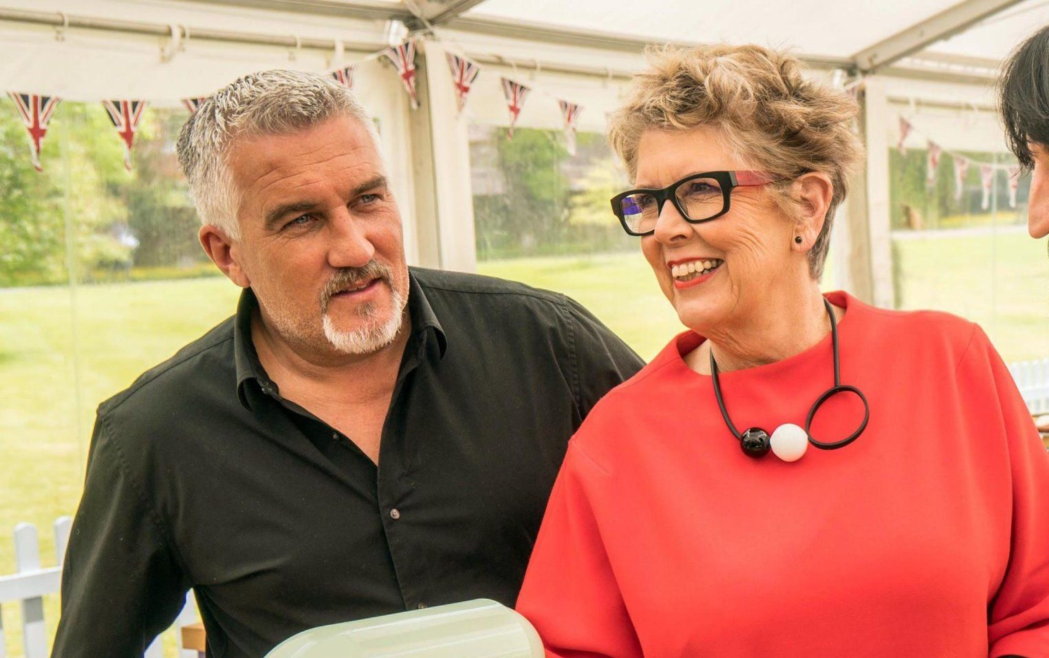 Where was Prue Leith during the Bake Off showstopper last night?