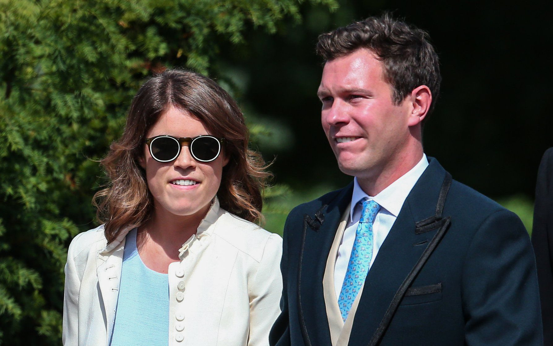 The wedding of Charlie Van Straubenzee and Daisy Jenks at St. Mary the Virgin Church in Frensham Featuring: Princess Eugenie, Jack Brooksbank Where: Frensham, United Kingdom When: 04 Aug 2018 Credit: John Rainford/WENN