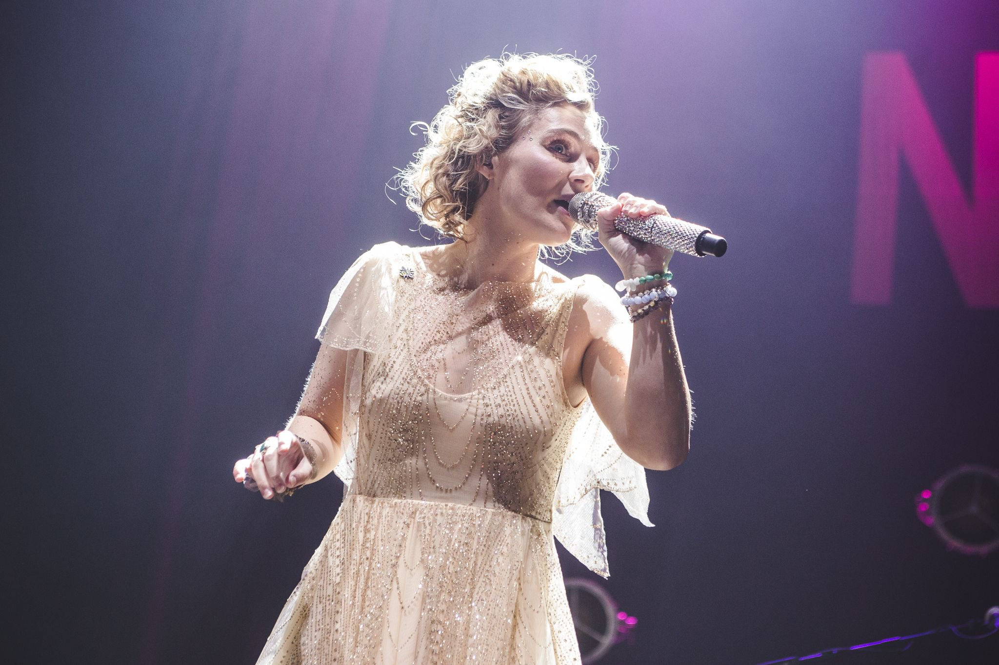Mandatory Credit: Photo by Myles Wright/ZUMA Wire/REX/Shutterstock (9637398c) Clare Bowen 'Nashville' in concert at Manchester Arena, UK - 18 Apr 2018