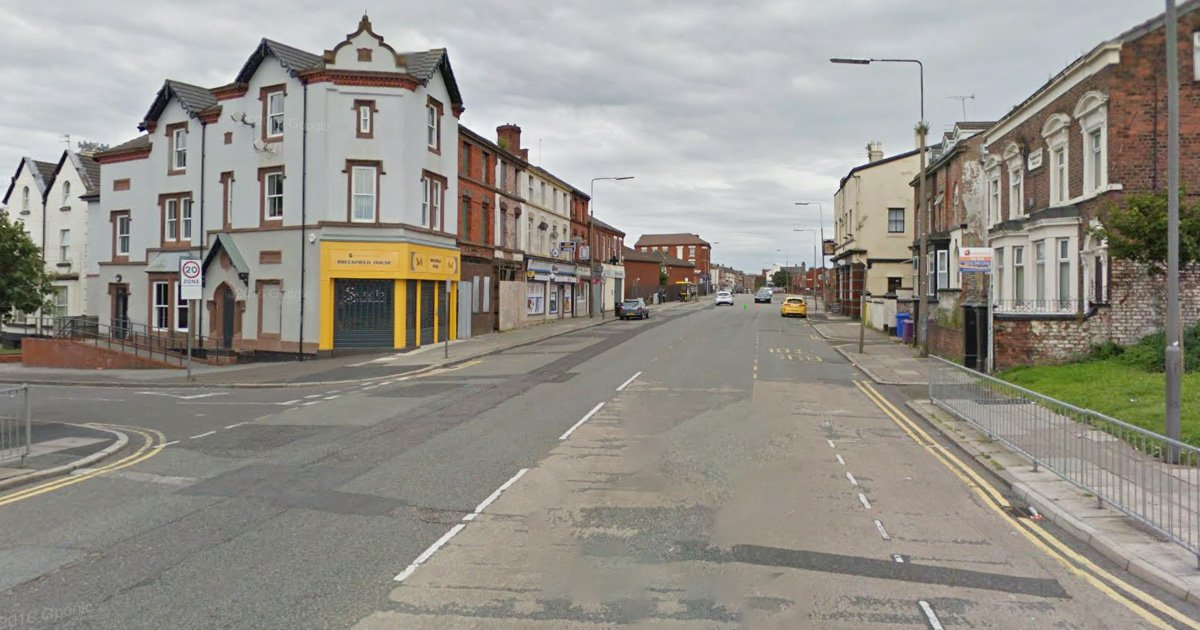 Couple arrested after toddler found in the street in a nappy Picture: Breckfield Road North, Liverpool Credit: Google