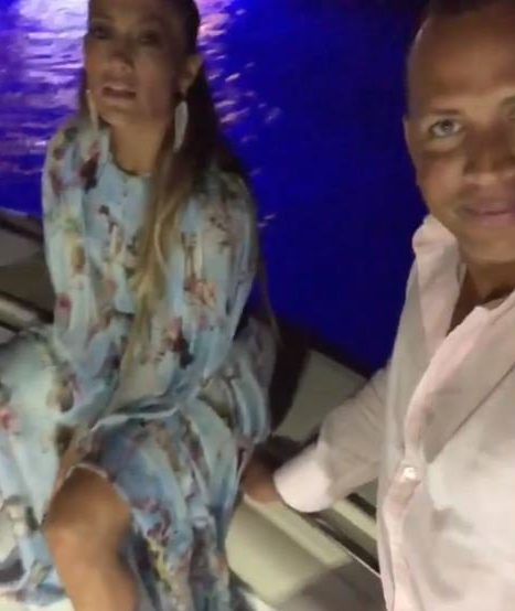 Jennifer Lopez serenades Alex Rodriguez with Journey's Don't Stop Believing onboard yacht https://www.instagram.com/p/BmKfv59hThw/?taken-by=arod