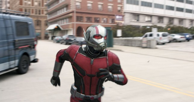 "No Merchandising. Editorial Use Only. No Book Cover Usage Mandatory Credit: Photo by Marvel/Disney/Kobal/REX/Shutterstock (9745665ao) Paul Rudd ""Ant-Man and the Wasp"" Film - 2018"