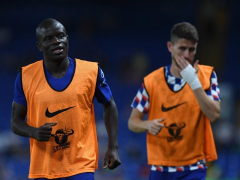 Jorginho teaches N'Golo Kante how to play Sarri-ball during Chelsea's clash with Lyon