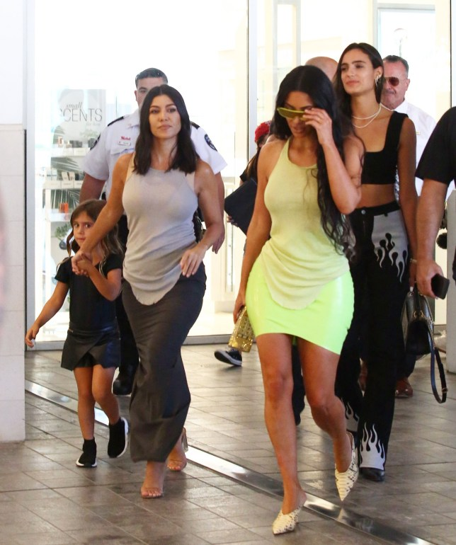 Tuesday, August 7, 2018 - Despite their recent Twitter war, Kourtney Kardashian gets moral support from sister Kim Kardashian and daughter Penelope Disick after splitting with boyfriend Younes Bendjima, who was already spotted moving on in Mexico with former Hooters waitress Jordan Ozuna. The trio filmed KUTWK while going for retail therapy at Macy's in the Century City Mall. - AZ/X17online.com