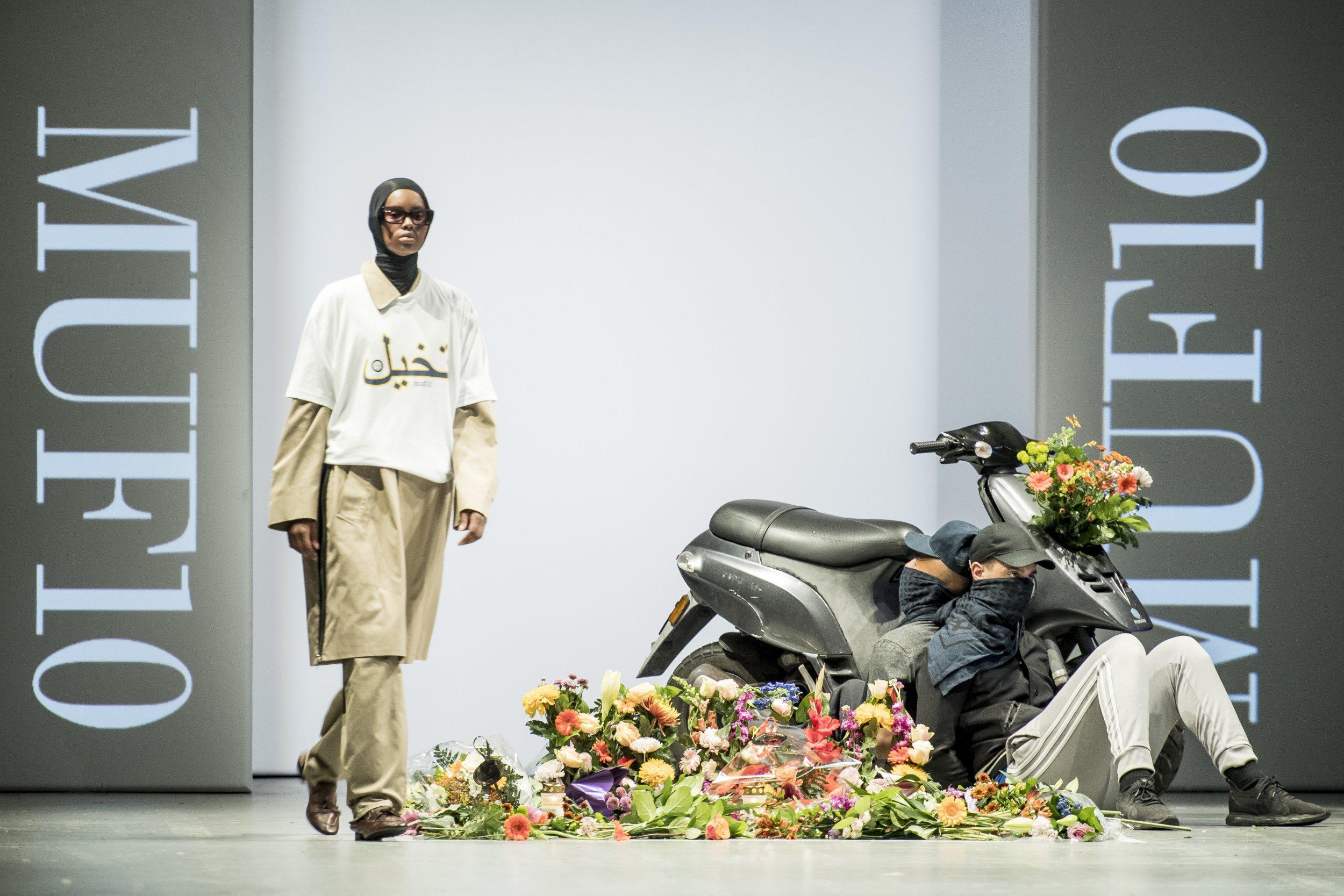 Danish designer puts on fashion show protesting burka ban