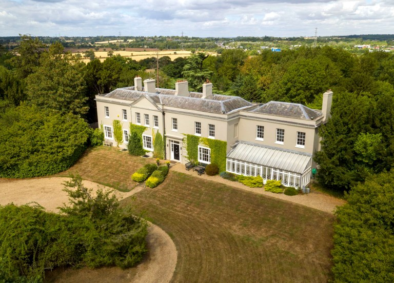 A aerial view of Dancers Hill House near Barnet, North London, which is worth ?6million is being auctioned off in a raffle. The six-bedroom house which includes a lake, a cinema room, Wine cellar and a state of the art kitchen can be won by purchasing a a ?13.50 raffle ticket. PRESS ASSOCIATION Photo. Picture date: Wednesday August 8, 2018. See PA story CONSUMER House. Photo credit should read: Steve Parsons/PA Wire
