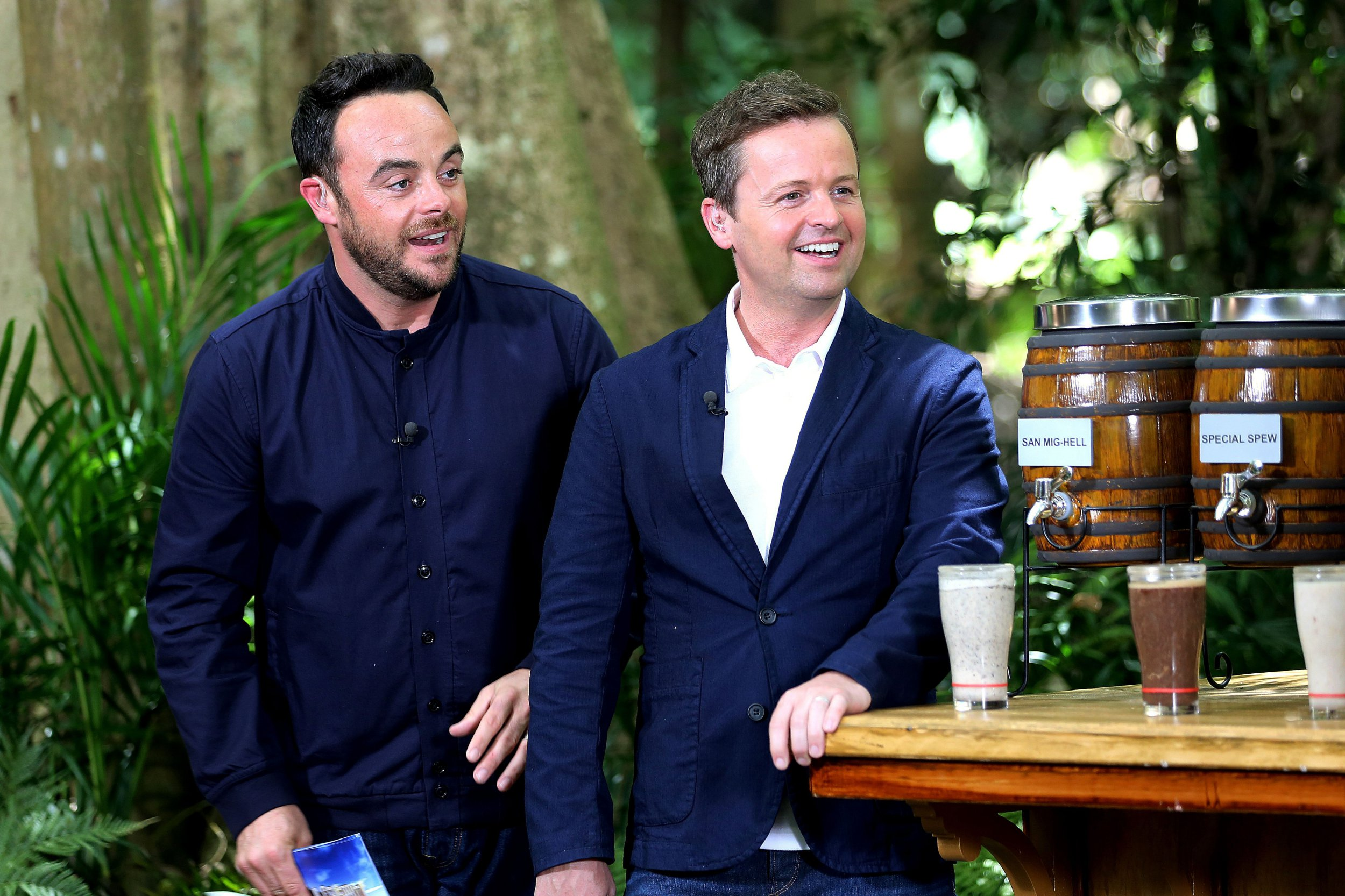 ***EMBARGO, NOT TO BE USED BEFORE 22:00 GMT, 24 Nov 2016 - EDITORIAL USE ONLY - NO MERCHANDISING*** Mandatory Credit: Photo by ITV/REX/Shutterstock (7471905at) Bushtucker Trial, Bush Brewery - Anthony McPartlin and Declan Donnelly 'I'm a Celebrity...Get Me Out of Here!' TV Show, Australia - 24 Nov 2016