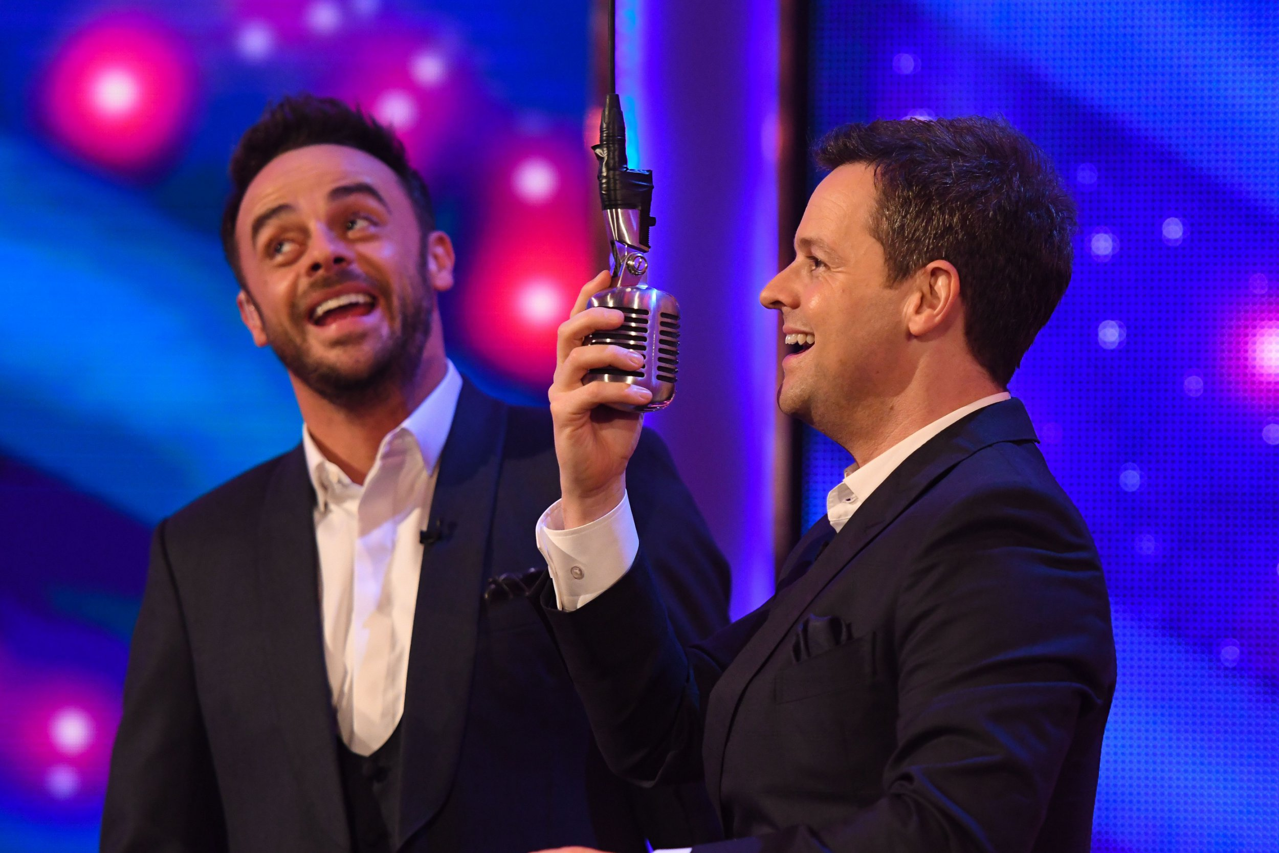 Editorial Use Only. No merchandising Mandatory Credit: Photo by ITV/REX/Shutterstock (9454096bd) Anthony McPartlin and Declan Donnelly 'Ant & Dec's Saturday Night Takeaway' TV Show, Series 15, Episode 3, London, UK - 10 Mar 2018