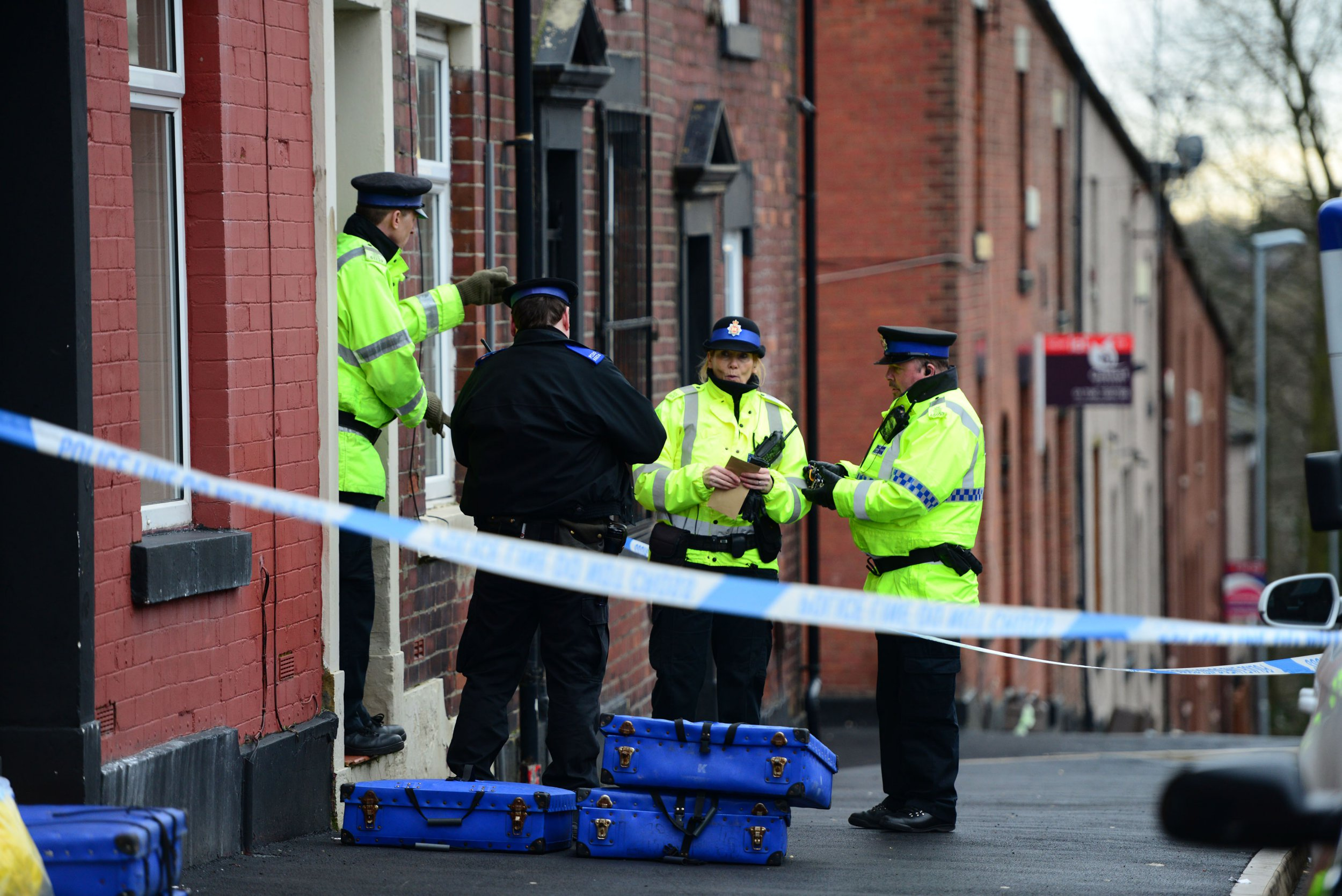 A mum was stabbed to death by her son-in-law after helping her daughter escape an arranged marriage, a court heard. Muhammad Tafham, 31, is alleged to have murdered Rahman Begum, 46, at her home in Rochdale, Greater Manchester, days after her daughter, Aysha, 25, left him to move back in with her long-term boyfriend. Caption: Police cordon on Clement Royds Street in Rochdale, Greater Manchester, where Rahman Begum was stabbed to death on February 7, 2018