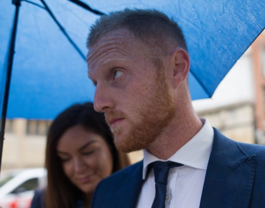 England cricketer Ben Stokes and his wife Clare arrive at Bristol Crown Court accused of affray. PRESS ASSOCIATION Photo. Picture date: Friday August 10, 2018. The 27-year-old all-rounder and two other men, Ryan Ali and Ryan Hale are jointly charged with affray in the Clifton Triangle area of Bristol on September 25 last year ? several hours after England had played a one-day international against the West Indies in the city. See PA story COURTS Stokes. Photo credit should read: Aaron Chown/PA Wire
