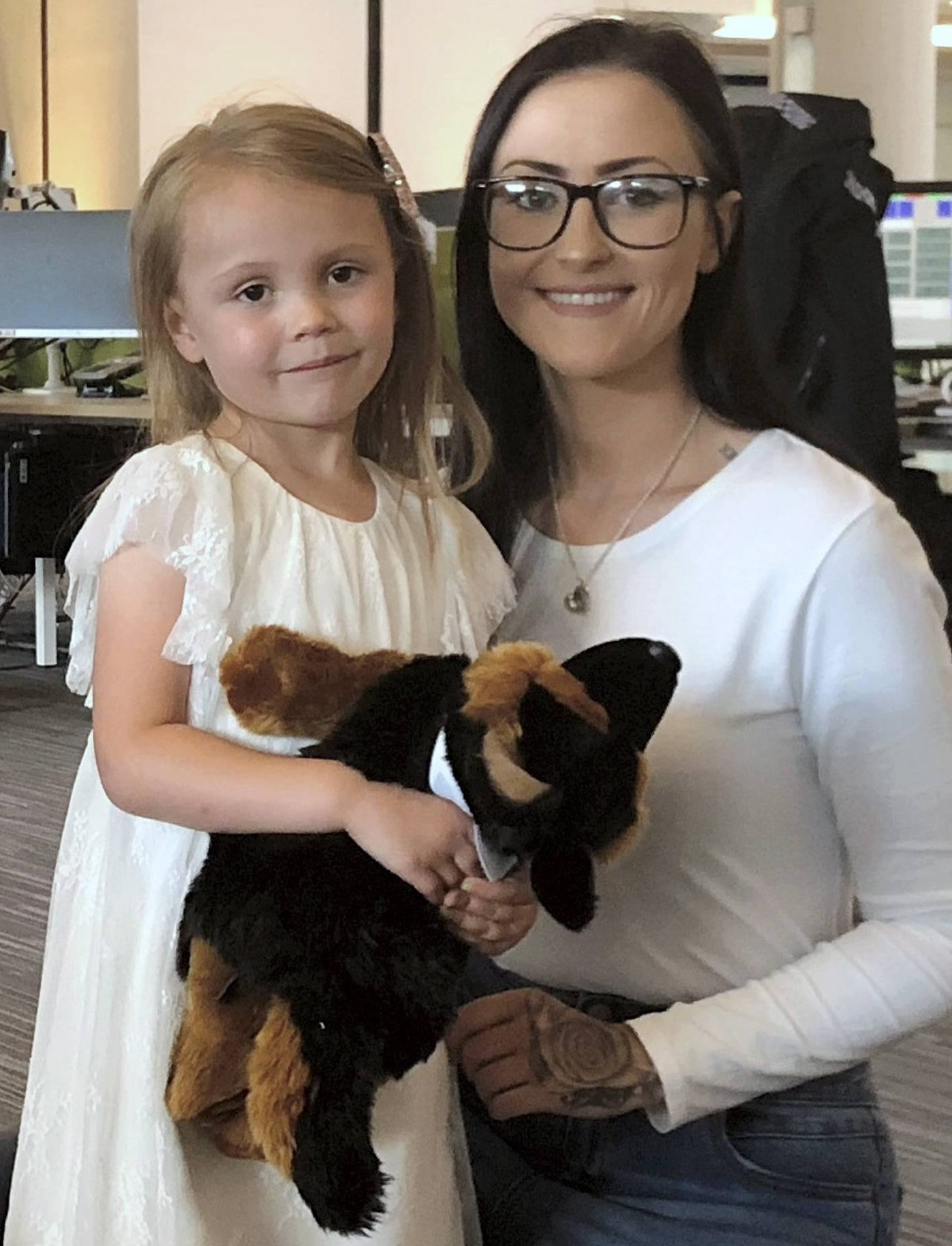 Dated: 10/08/2018 Hero four-year-old Mila Dobby, who saved her unconscious mum's life when she dialled 999 as Ellen Oselton lay bleeding from a head wound after a fall in the family home in Consett, County Durham. Pictured with mum Ellen. See story and video by North News
