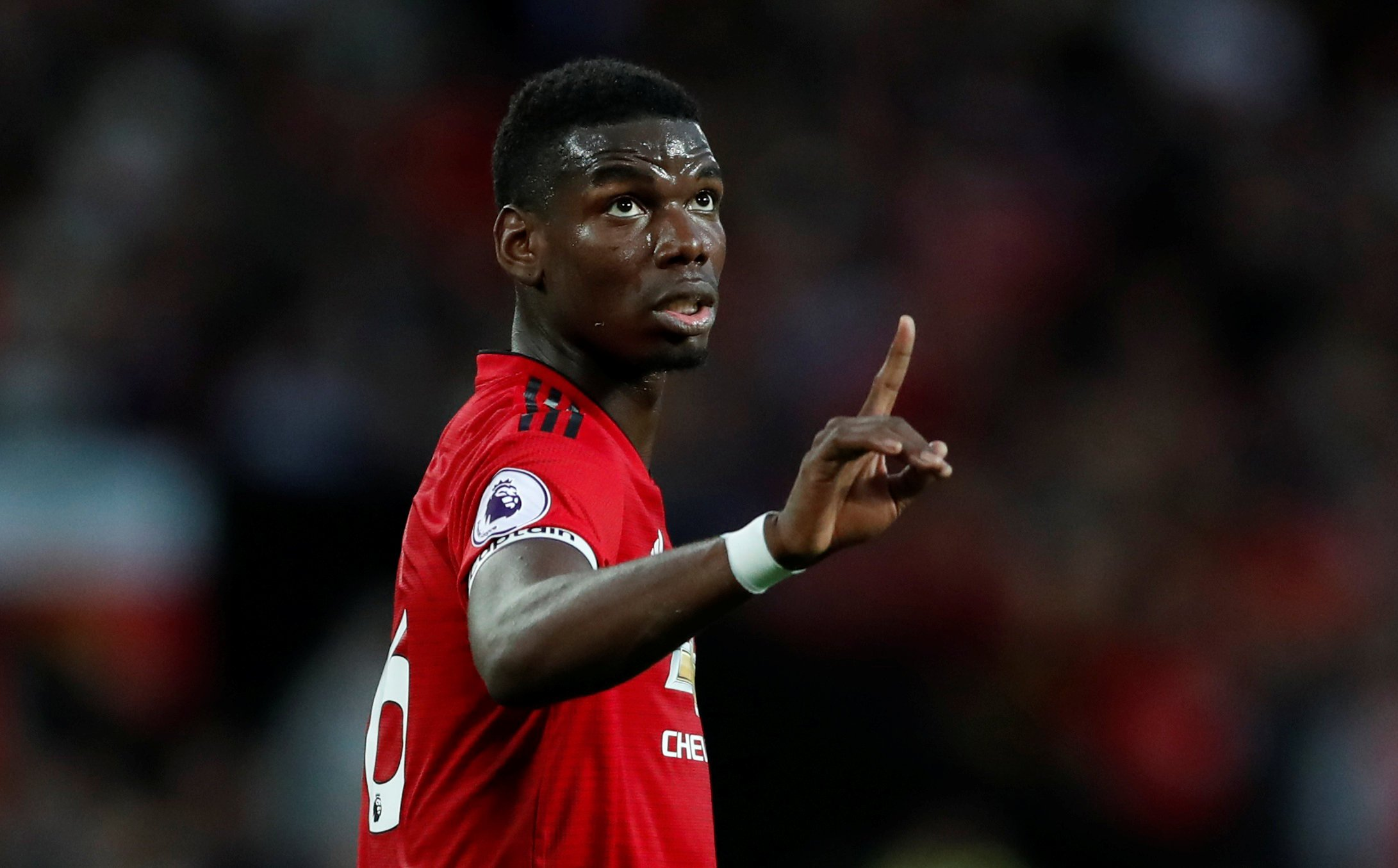 """Soccer Football - Premier League - Manchester United v Leicester City - Old Trafford, Manchester, Britain - August 10, 2018 Manchester United's Paul Pogba Action Images via Reuters/Andrew Boyers EDITORIAL USE ONLY. No use with unauthorized audio, video, data, fixture lists, club/league logos or """"live"""" services. Online in-match use limited to 75 images, no video emulation. No use in betting, games or single club/league/player publications. Please contact your account representative for further details."""