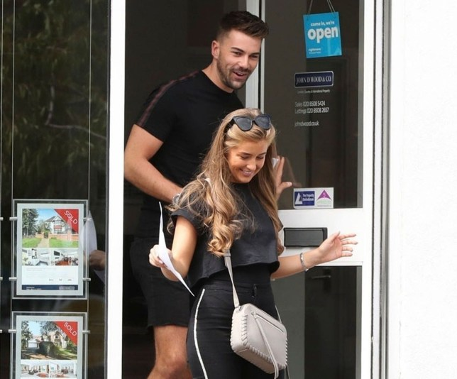 BGUK_1307134 - *EXCLUSIVE* London, UNITED KINGDOM - Love Island's Georgia Steel and boyfriend Sam Bird seen house hunting out in Essex. The pair who announced their undying love for each other on the popular ITV show seem happy especially Georgia showing how 'loyal' she can be preparing to move into a hot new pad with Sam. *PICTURES TAKEN ON 08/08/2018* Pictured: Georgia Steel and Sam Bird BACKGRID UK 10 AUGUST 2018 BYLINE MUST READ: Old Boy's Club / BACKGRID UK: +44 208 344 2007 / uksales@backgrid.com USA: +1 310 798 9111 / usasales@backgrid.com *UK Clients - Pictures Containing Children Please Pixelate Face Prior To Publication*