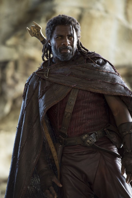 "No Merchandising. Editorial Use Only. No Book Cover Usage Mandatory Credit: Photo by J Boland/Marvel Studios/Kobal/REX/Shutterstock (9220927d) Idris Elba ""Thor: Ragnarok"" Film - 2017"