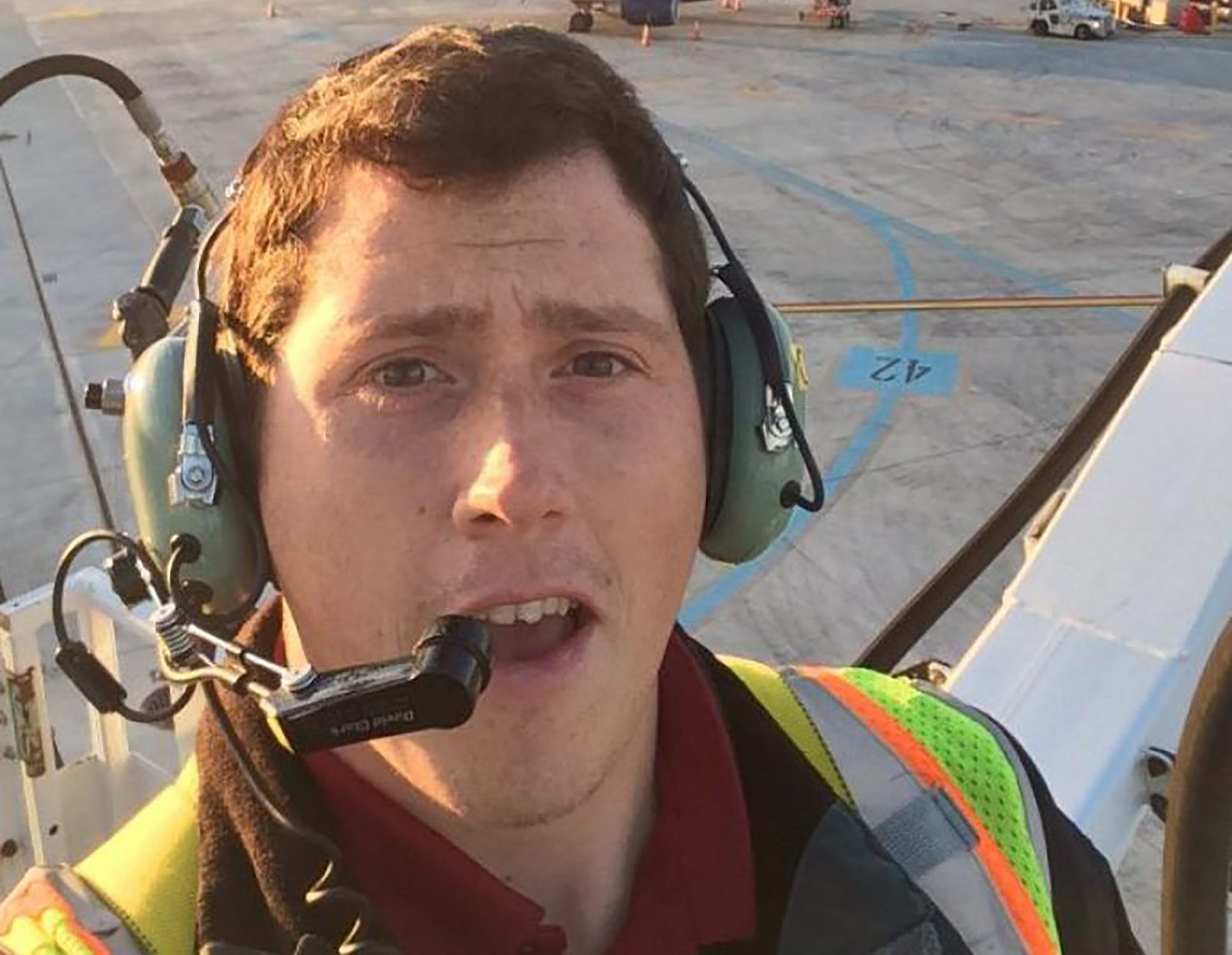 "This undated selfie picture available on social media on August 11, 2018 shows Richard B Russell, a ground service agent at the Seattle-Tacoma International Airport, who stole a plane and flew it for about an hour on August 10 before crashing on an island south of Seattle. - Horizon Air employee Richard Russell told an air traffic controller he was ""just a broken man"" minutes before dying late Friday in the Bombardier Q400 twin-engine turboprop plane, appearing to apologize for his actions. Law enforcement officials identified him to US media. (Photo by - / Social Media / AFP)-/AFP/Getty Images"