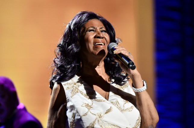 "NEW YORK, NY - APRIL 19: Aretha Franklin performs onstage during the ""Clive Davis: The Soundtrack of Our Lives"" Premiere Concert during the 2017 Tribeca Film Festival at Radio City Music Hall on April 19, 2017 in New York City. (Photo by Theo Wargo/Getty Images for Tribeca Film Festival)"