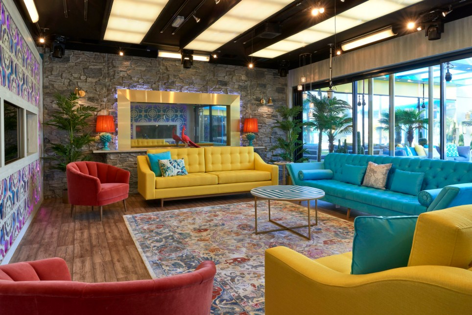 EMBARGOED TO 0001 WEDNESDAY AUGUST 15 Undated handout photo issued by Channel 5 of the living area in the new Celebrity Big Brother house in which the show's contestants will reside. PRESS ASSOCIATION Photo. Issue date: Wednesday August 15, 2018. The show launches on Wednesday. See PA story SHOWBIZ CBB. Photo credit should read: Bart Pajak/Channel 5/PA Wire NOTE TO EDITORS: This handout photo may only be used in for editorial reporting purposes for the contemporaneous illustration of events, things or the people in the image or facts mentioned in the caption. Reuse of the picture may require further permission from the copyright holder.