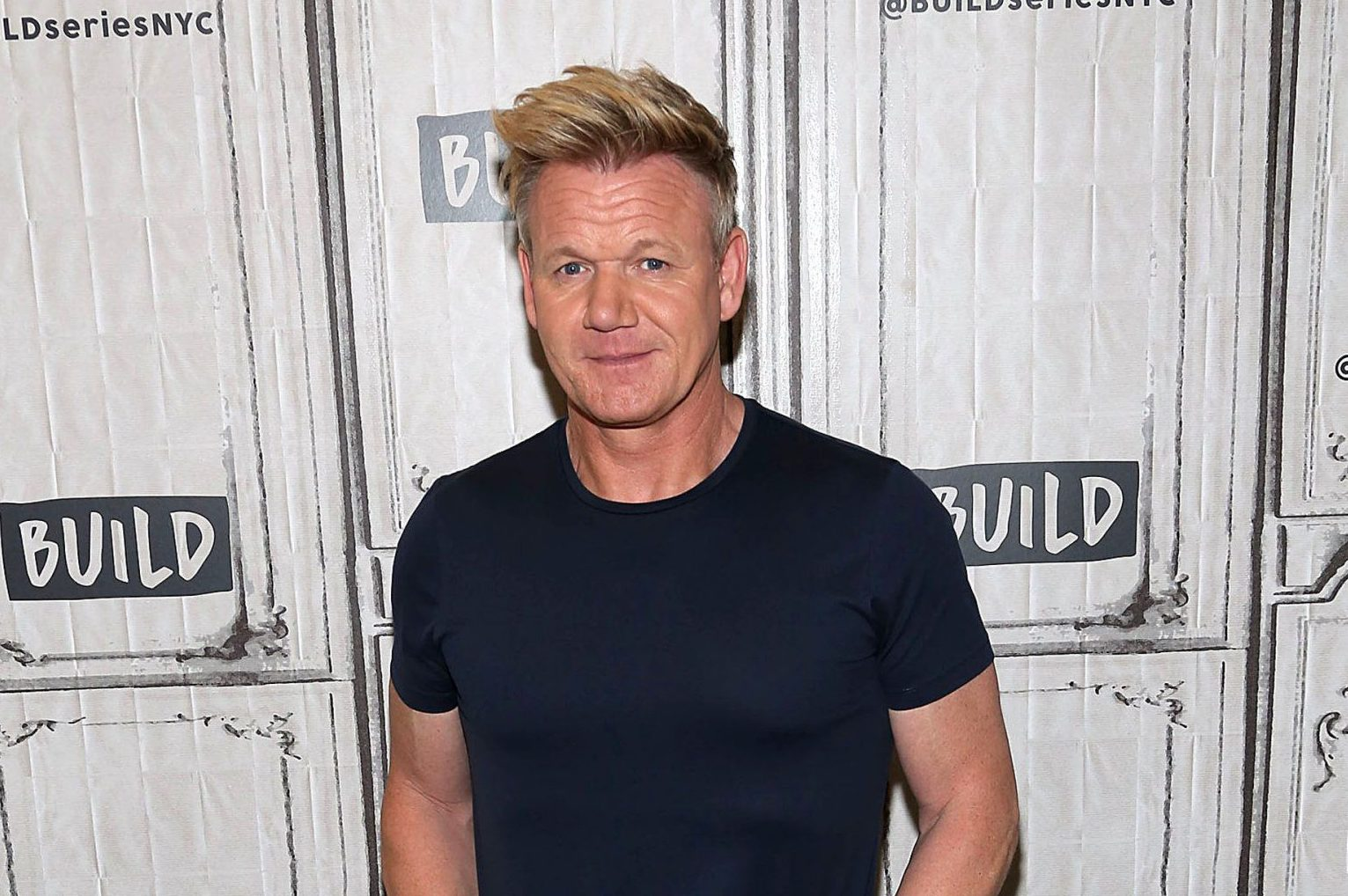 """NEW YORK, NY - JULY 09: Chef Gordon Ramsay visits Build Series to discuss """"24 Hours to Hell and Back"""" at Build Studio on July 9, 2018 in New York City. (Photo by Manny Carabel/WireImage)"""