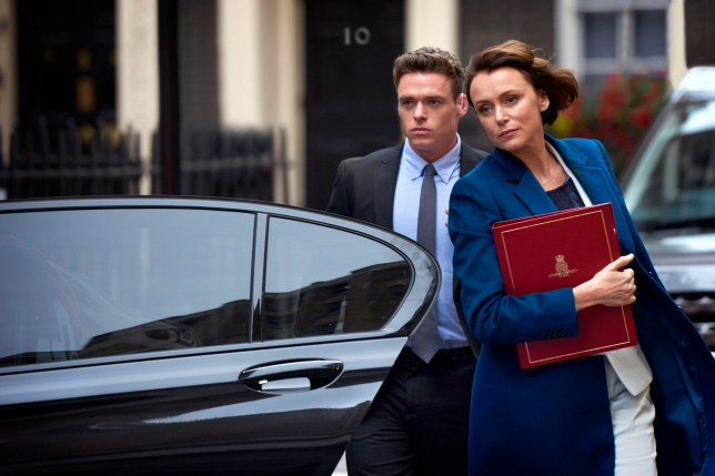 WARNING: Embargoed for publication until 00:00:01 on 05/10/2017 - Programme Name: Bodyguard - TX: n/a - Episode: Bodyguard - First Look (No. n/a) - Picture Shows: *STRICTLY NOT FOR PUBLICATION UNTIL 00:01HRS, THURSDAY 5TH OCTOBER, 2017* David Budd (RICHARD MADDEN), Julia Montague (KEELEY HAWES) - (C) World Productions - Photographer: Des Willie