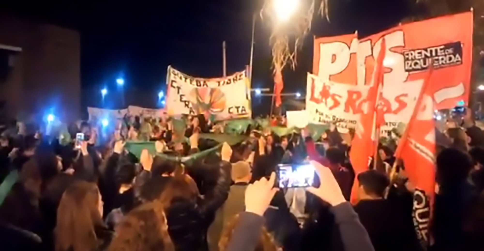 """Pic Shows: Women protested with green symbols for the unsafe abortion; A pregnant woman has died after she inserted parsley stems into her vagina in a botched attempt to induce a miscarriage. The shocking incident occurred in the Argentinian capital Buenos Aires and comes days after the Argentinian Senate rejected a bill to decriminalise abortion in the country. Local media report that the 34-year-old woman, identified as Liz, had placed parsley stems up her vagina in the hopes of inducing a miscarriage. She was reportedly rushed to the emergency ward of the Pacheco hospital after suffering complications in the DIY operation and doctors removed her uterus after it became infected. The victim, mother to a two-year-old son, was then transferred to the emergency unit of another hospital but despite the doctors' best efforts the woman could not be saved and her death has sparked fresh protests over the decriminalisation of abortion in Argentina. Ana Paula Fagioli, spokeswoman for the health professionals network Decision Right Net, said: """"She went to the hospital with septic shock and parsley stems in her uterus. The uterus is sterile, it does not have germs. When a stem is introduced into the uterus the germs from the parsley go inside and increase the mount of germs inside the vagina. This causes a serious infection."""" Reports suggest the victim had been taken to the hospital by her mother and was scared of reporting the incident as she could have been jailed for trying to induce a miscarriage. Fagioli added: """"For those who say that legal abortions are expensive for the state, I say that the costs in this case were very high, the surgery to remove the uterus, the night in an intensive care unit, the transfer, the new hospitalisation. """"We knew that this was going to happen and this is the result of the desperation of a poor woman facing this alone."""" Local media report the victim???s mother will look after her two-year-old son. Demonstrations were held outside"""