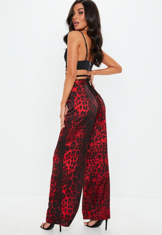 e7ec1a0a3a7 Missguided Red Leopard Print Wide Leg Trouser – £25 (Picture  Misguided)