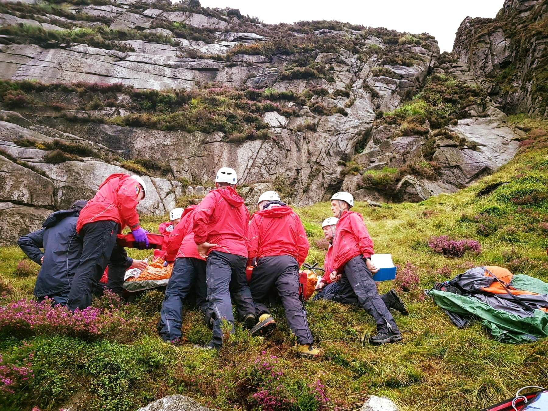 Hiker taken to hospital after being hit by falling sheep