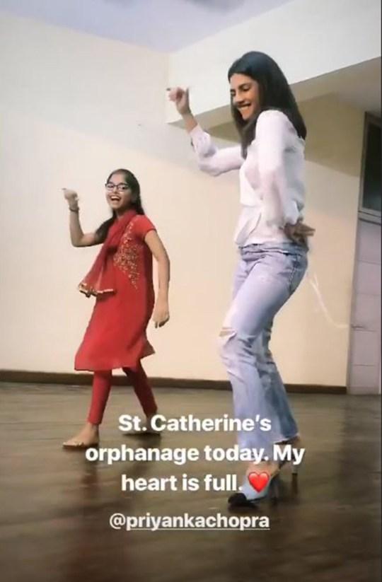 METRO GRAB VIA INSTAGRAM STORY Nick Jonas and Priyanka Chopra visit orphanage