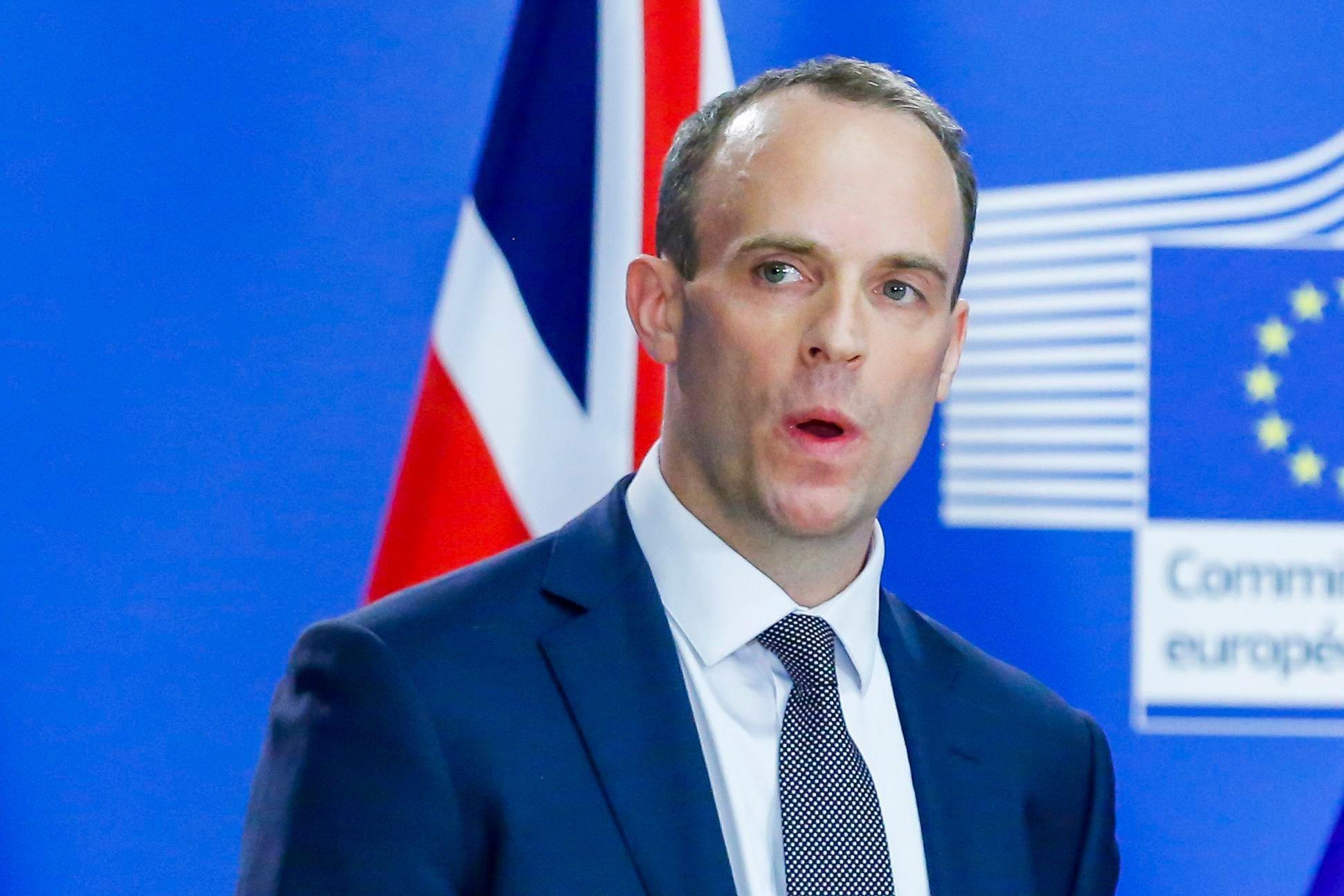 Mandatory Credit: Photo by Isopix/REX/Shutterstock (9771243w) Dominic Raab Article 50 Negotiations, Brussels, Belgium - 26 Jul 2018