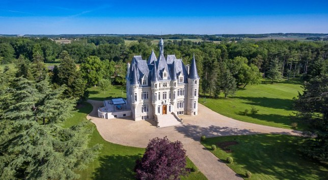 BNPS.co.uk (01202 558833)?Pic: MaxwellBaynes/BNPS Fancy living in your own Magic Kingdom - fairytale French Chateau near historic Poitiers on the market fot ?5 million. Homebuyers will need deep pockets or a fairy godmother if they want to get their hands on this stunning ?5m castle that looks straigh out of Disneyland. With its white walls and spectacular pointed blue turrets, the elegant 19th century chateau near Poitiers in western France could easily be mistaken for the iconic Cinderella Castle at Disney World in Orlando, Florida, and the Walt Disney logo. The impressive home has everything a modern-day princess could want - indoor and outdoor swimming pools, a wine cellar, home cinema and a gym - all that is missing is the pumpkin carriage and glass slippers. It is on the market with estate agent Maxwell Baynes for ?4.92m (5.5m euros).