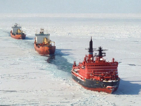 Climate change means an Arctic shipping route has opened up for the first time