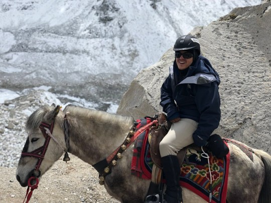 Cerebral palsy sufferer says riding up Mt Everest on horse was easier than getting seat on tube METRO GRAB taken from: https://twitter.com/ridingeverest/status/996329320074436609 Credit: Riding Everest/Twitter