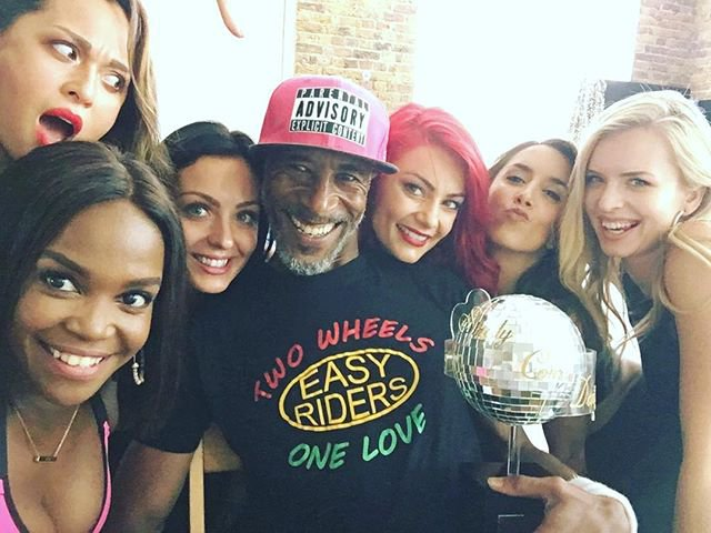 Danny John Jules cosies up to female Strictly dancers METRO GRAB taken from: https://www.instagram.com/p/Bm0srhchbj3/?taken-by=dannyjohnjules Credit: Danny John Jules/Instagram
