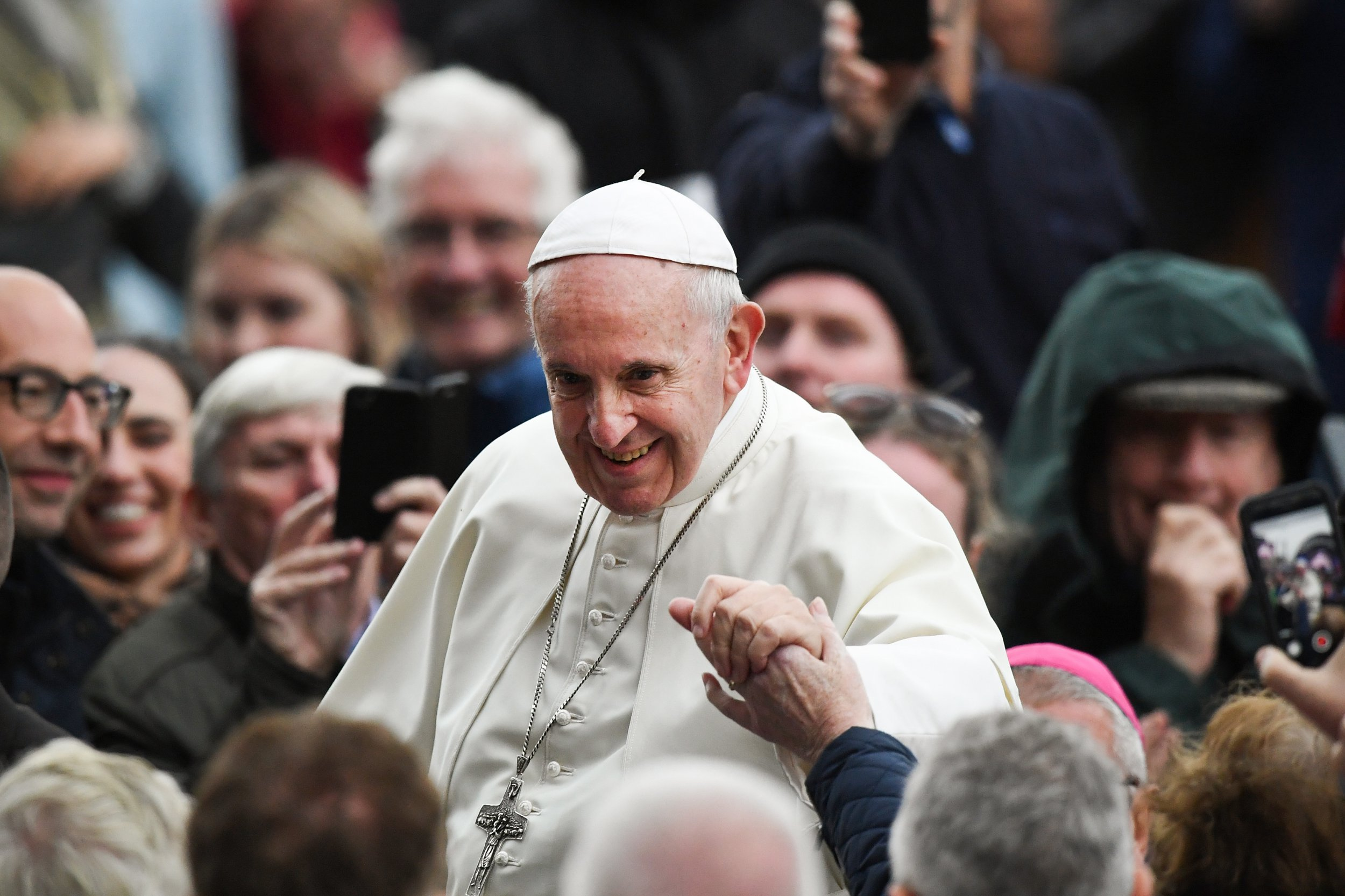 DUBLIN, IRELAND - AUGUST 25: Pope Francis attends the festival of families at Croke Park on 25 August , 2018 in Dublin, Ireland.Pope Francis is the 266th Catholic Pope and current sovereign of the Vatican. His visit, the first by a Pope since John Paul II's in 1979, is expected to attract hundreds of thousands of Catholics to a series of events in Dublin and Knock. During his visit he will have private meetings with victims of sexual abuse by Catholic clergy. (Photo by Jeff J Mitchell/Getty Images)