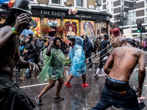 Rain doesn't stop Notting Hill Carnival kicking off the party spirit
