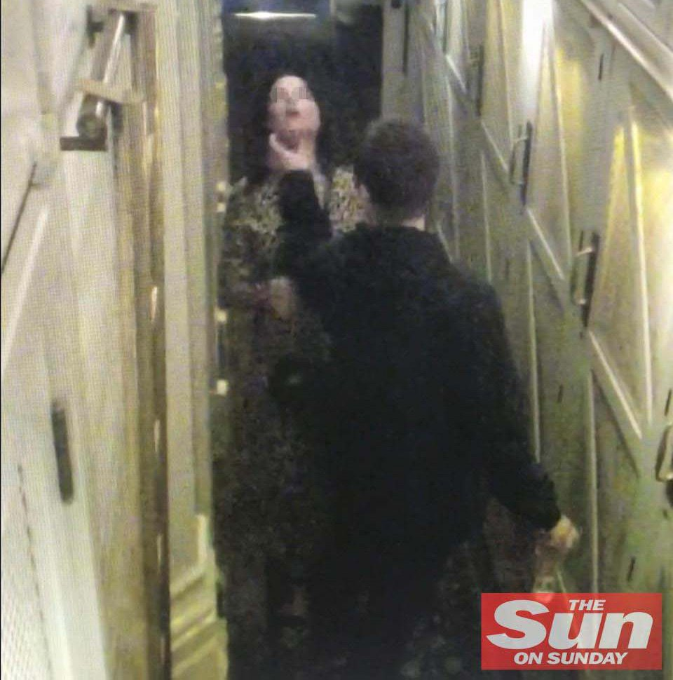 MUST NOT CROP THE IMAGEDisturbing scenes as Liam Gallag?her pushed his girlfriend ?Debbie Gwyther before grabbing her throat in a vicious nightclub bust-up.