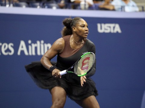 Serena Williams takes to tennis court in a designer tutu after her catsuit is banned