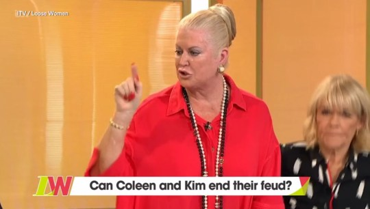 Kim Woodburn and Coleen Nolan come to actual blows on Loose Women