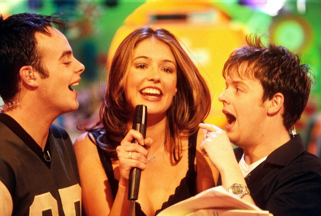 Mandatory Credit: Photo by Ken McKay/REX/Shutterstock (299483f) Anthony McPartlin, Cat Deeley and Declan Donnelly ANT AND DEC WITH CAT DEELEY ON SMTV - 2000