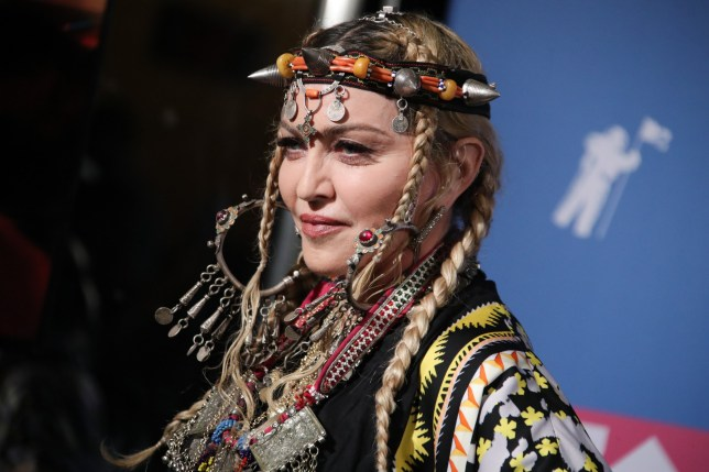 Mandatory Credit: Photo by Matt Baron/REX/Shutterstock (9795344ar) Madonna MTV Video Music Awards, Press Room, New York, USA - 20 Aug 2018