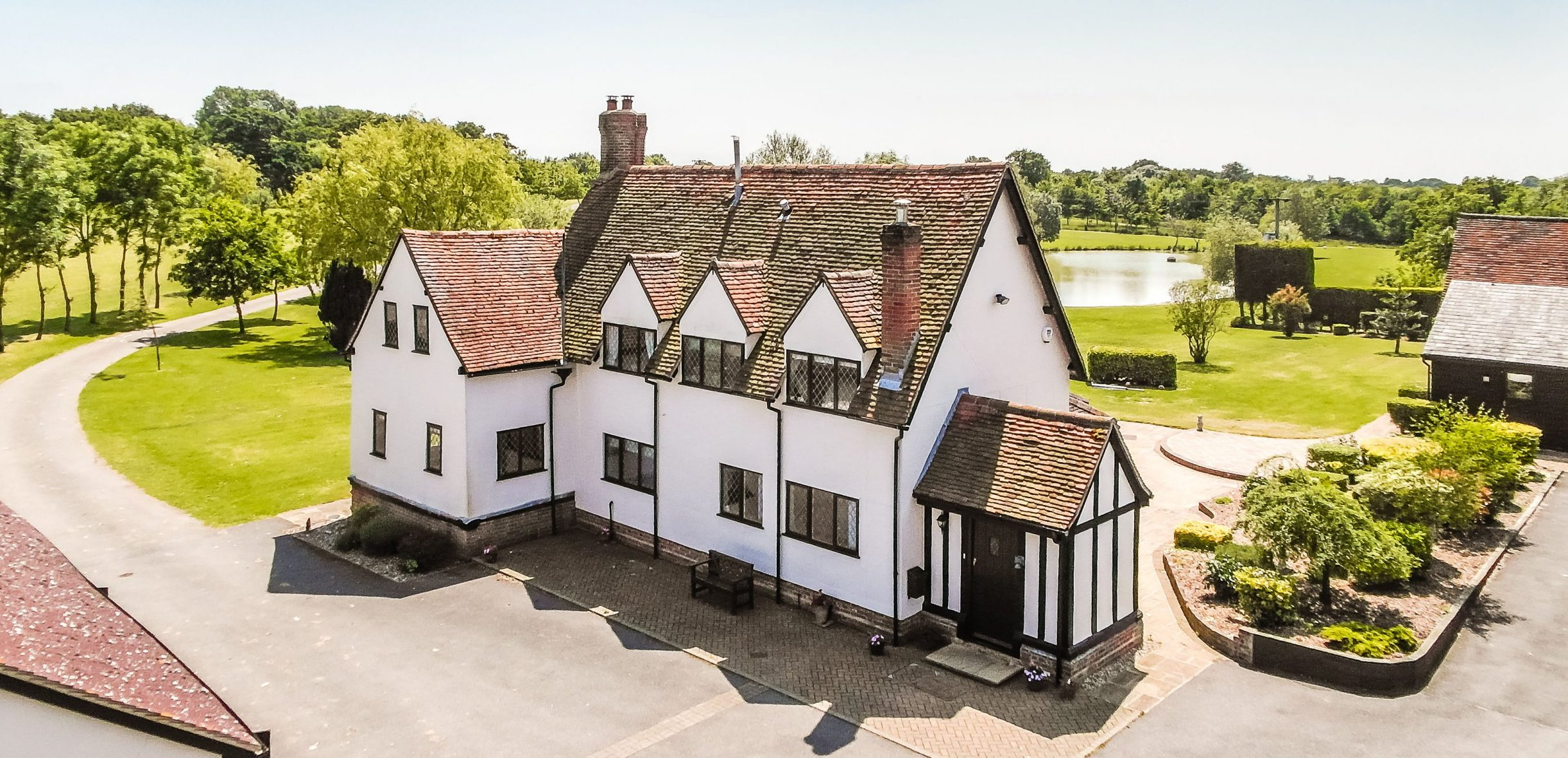 BNPS.co.uk (01202 558833) Pic: Strutt&Parker/BNPS Teenage kicks... Homebuyers with teenage children will never need to worry about how to entertain them again at this spectacular farm - on the market for ?2.85m. Rigery Farm has an indoor swimming pool, stables for horse, a lake for boating, a gym and plenty of space for a trampoline, a tennis court and any other outdoor activities one could want in its 50 acres of parkland. And for the adults the property, on the outskirts of Colliers End, Herts, is a charming Grade II listed farmhouse within commuting distance of central London.
