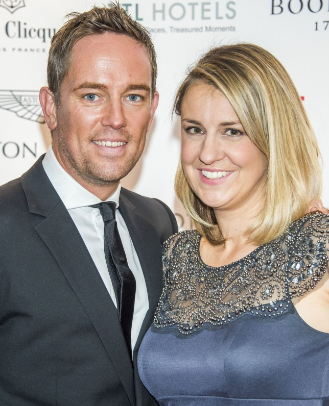 Mandatory Credit: Photo by Guy Bell/REX/Shutterstock (5255692cz) Simon Thomas of Sky Sports and wife Gemma Sport for Freedom Anti-Slavery Day Gala Dinner, Stamford Bridge, London, Britain - 15 Oct 2015 Sport for Freedom, marks Anti-Slavery Day 2015 by hosting a charity Gala Dinner, supported by Aston Martin, at Stamford Bridge, home of Chelsea Football Club. This inaugural event brought together people from the world of sport, entertainment, media, and business to unite behind a promise to tackle the issue of modern day human trafficking and slavery. Hosted by Sky presenters Sarah-Jane Mee and Jim White, the Sport for Freedom Gala Dinner includes guests such as jockey AP McCoy OBE; Denise Lewis, former British Olympic Gold Medal winner; BBC Strictly star, Brendan Cole; Al Bangura, former Watford FC player and Sport for Freedom Ambassador who was trafficked from Africa to the UK at the age of just 14yrs old