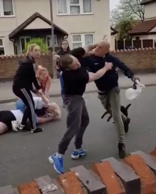 - images of the showing a video of a neighbour bringing a chainsaw to a dispute Link to video: https://www.dropbox.com/s/6e6n9ssl3mbr4hu/Chainsaw_Neighbour_1_TRIANGLENEWS.MOV?dl=0 TRIANGLE NEWS 0203 176 5581 // contact@trianglenews.co.uk By Matt Lennon In scenes reminiscent of a HORROR MOVIE, a man returns to the scene of a fight brandishing a CHAINSAW after a neighbourly feud descended into chaos. Video captured by mum Jess Appleby, 28, shows the blood-curdling moment he tries to burst into her house through a side door wielding the nightmarish weapon. Her partner Dean Brown claims only his last-minute heroics saved her and her young son from a grisly fate. *Full copy filed via the wires* - We have spoken to the boyfriend and currently waiting for permission to distribute- images of the showing a video of a neighbour bringing a chainsaw to a dispute TRIANGLE NEWS 0203 176 5581 // contact@trianglenews.co.uk By Matt Lennon In scenes reminiscent of a HORROR MOVIE, a man returns to the scene of a fight brandishing a CHAINSAW after a neighbourly feud descended into chaos. Video captured by mum Jess Appleby, 28, shows the blood-curdling moment he tries to burst into her house through a side door wielding the nightmarish weapon. Her partner Dean Brown claims only his last-minute heroics saved her and her young son from a grisly fate. *Full copy filed via the wires* - We have spoken to the boyfriend and currently waiting for permission to distribute **PLEASE NOTE THAT WE ARE CURRENTLY AWAITING A COMMENT FROM THE POLICE**