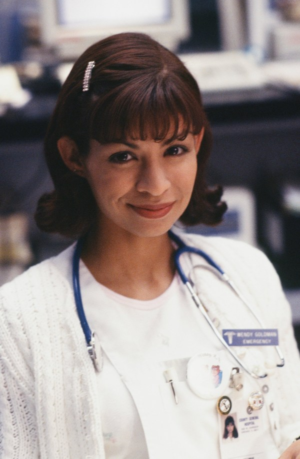 "ER -- ""Baby Shower"" Episode 15 -- Air Date 02/15/1996 -- Pictured: Vanessa Marquez as Nurse Wendy Goldman -- Photo by: Alice S. Hall/NBCU Photo Bank"